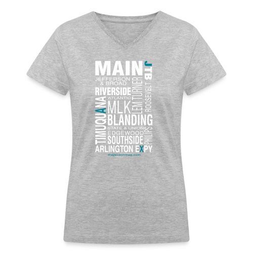 Jacksonville Streets - Women's V-Neck T-Shirt