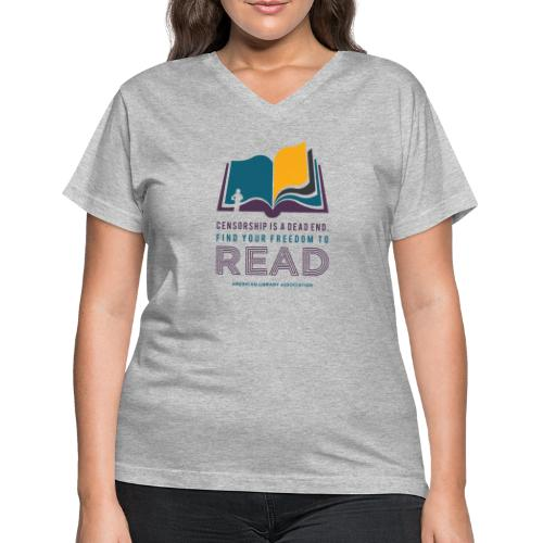 Find Your Freedom to Read - Women's V-Neck T-Shirt