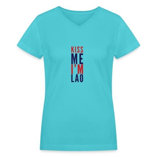 Kiss Me - Women's V-Neck T-Shirt