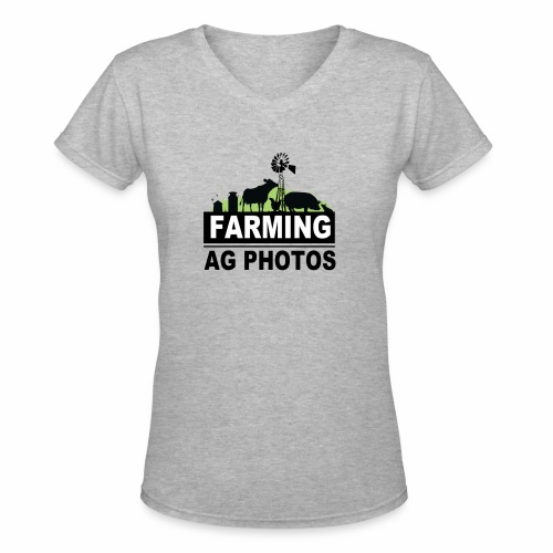 Farming Ag Photos - Women's V-Neck T-Shirt