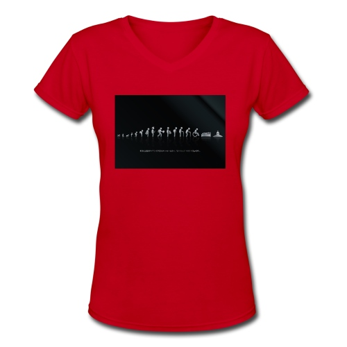 DIFFERENT STAGES OF HUMAN - Women's V-Neck T-Shirt