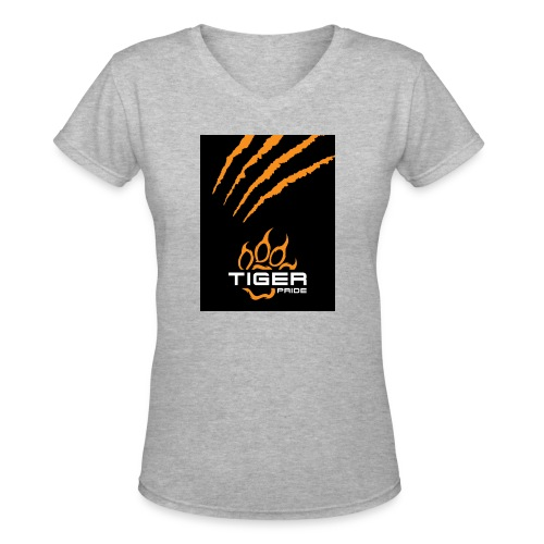 Tiger Pride iPad Case - Women's V-Neck T-Shirt