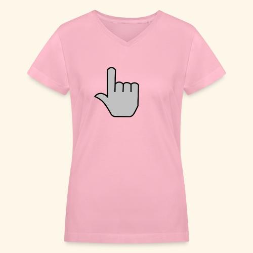 click - Women's V-Neck T-Shirt