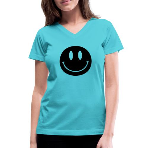 Smiley - Women's V-Neck T-Shirt