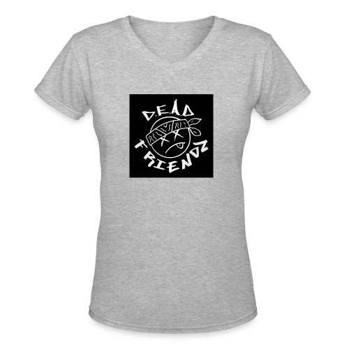 D.E.A.D FRIENDZ Records - Women's V-Neck T-Shirt