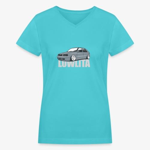 felicia lowlita - Women's V-Neck T-Shirt