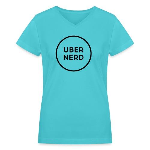 uber nerd logo - Women's V-Neck T-Shirt