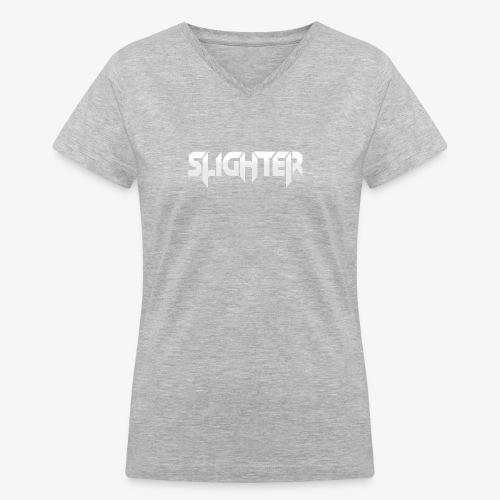 Slighter Logo - Women's V-Neck T-Shirt