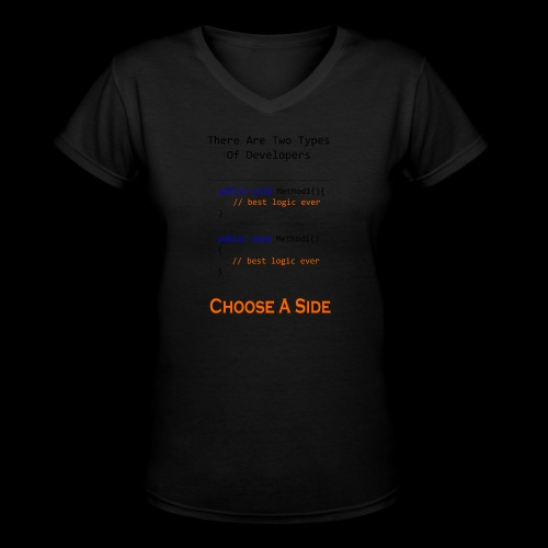 Code Styling Preference Shirt - Women's V-Neck T-Shirt