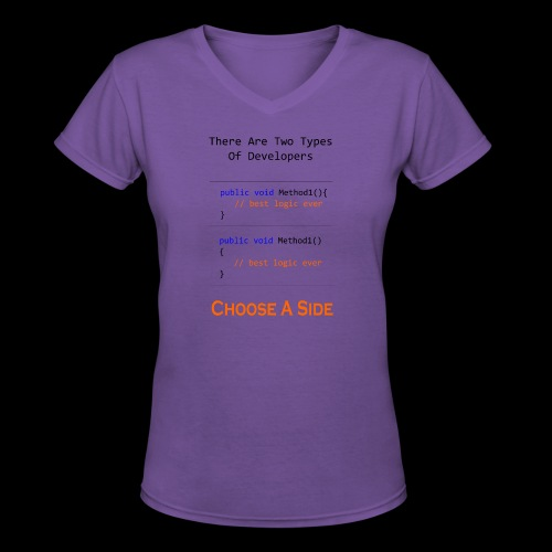Code Styling Preference Shirt - Women's V-Neck T-Shirt