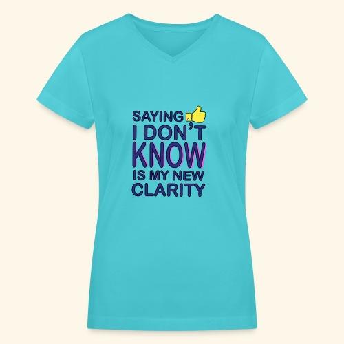 new clarity - Women's V-Neck T-Shirt