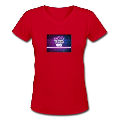 YESH Pweash - Women's V-Neck T-Shirt