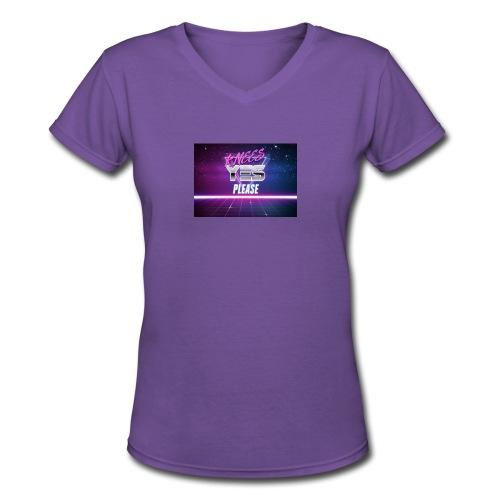 YESH Pweash - Women's V-Neck T-Shirt