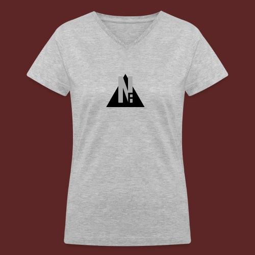 Basic NF Logo - Women's V-Neck T-Shirt