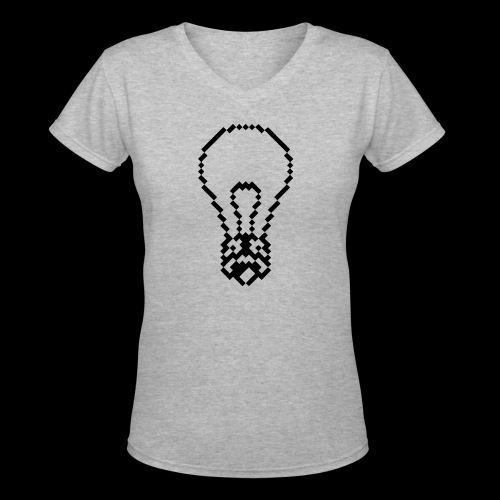 lightbulb - Women's V-Neck T-Shirt