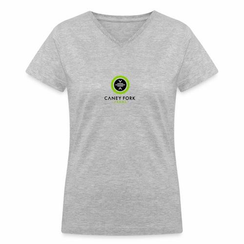 CFF Centered Color - Women's V-Neck T-Shirt