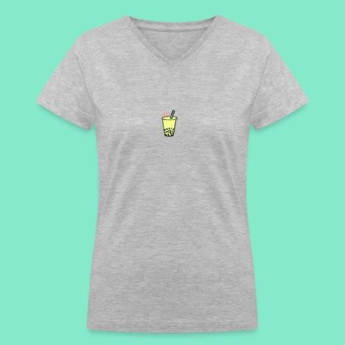Boba: Chill. - Women's V-Neck T-Shirt