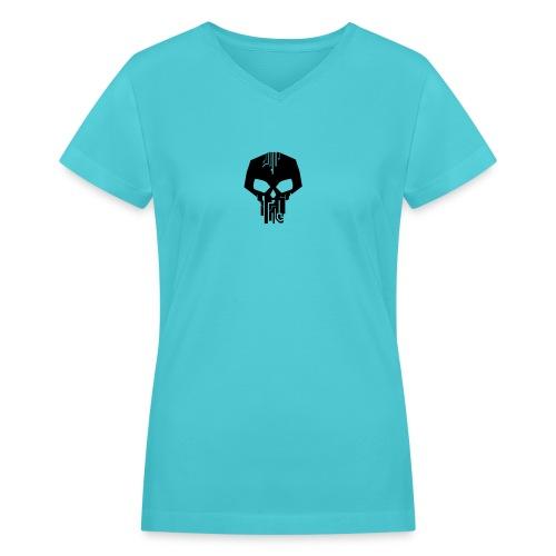 Black Logo Vector - Women's V-Neck T-Shirt