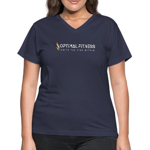 white logo, keep calm and hiit it white - Women's V-Neck T-Shirt