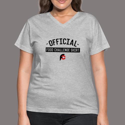 Official Food Challenge Shirt 2 - Women's V-Neck T-Shirt