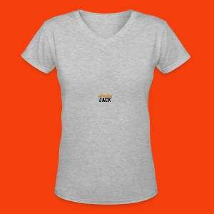 monster jack logo - Women's V-Neck T-Shirt