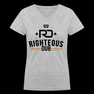 Righteous Dub Logo - Women's V-Neck T-Shirt