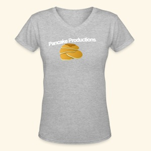 Pancake Productions Shirts - Women's V-Neck T-Shirt