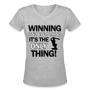 cricket wining tee - Women's V-Neck T-Shirt