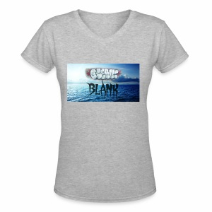 Ocean Blank Cloud - Women's V-Neck T-Shirt