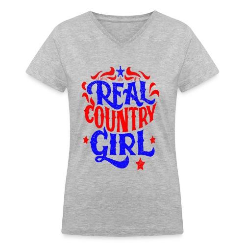Real Country Girls - Women's V-Neck T-Shirt