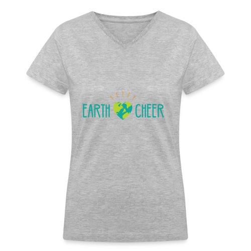 earth cheer - Women's V-Neck T-Shirt