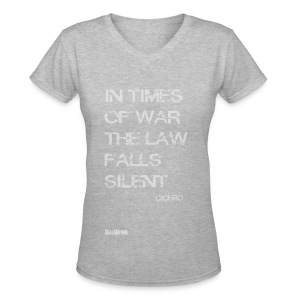 EPIC QUOTES - Cicero In Times of War .. - Women's V-Neck T-Shirt