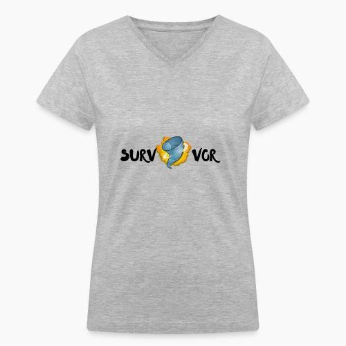 Survivor - Women's V-Neck T-Shirt