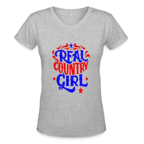 Real Country Girls - Women's V-Neck T-Shirt