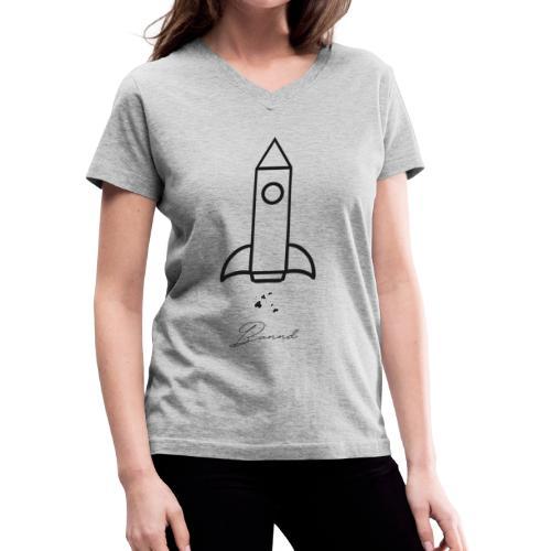 Bannd Rocket Logo - Women's V-Neck T-Shirt