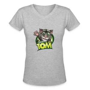 Talking_TOM_wave_preview_lowRes - Women's V-Neck T-Shirt