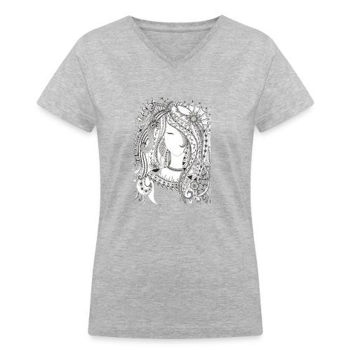 Girl - Women's V-Neck T-Shirt