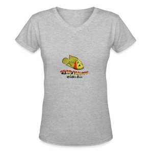 Pyro Trimac Cichlid Apparel - Women's V-Neck T-Shirt