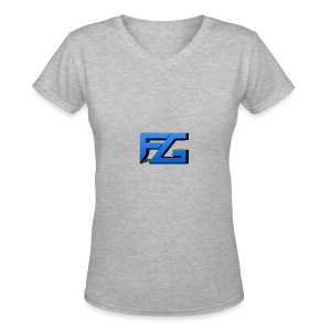 Freeze Gaming Logo - Women's V-Neck T-Shirt