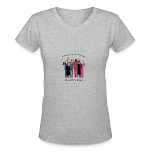 The Order of the Pantsuits: Hillary's Army - Women's V-Neck T-Shirt