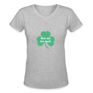 Rub me for luck - Women's V-Neck T-Shirt