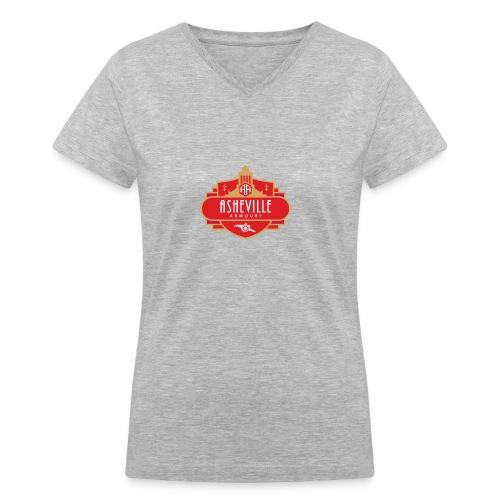 Asheville Armoury Tshirt - Women's V-Neck T-Shirt
