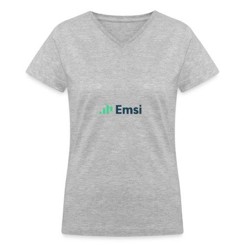 Shirt Full Logo - Women's V-Neck T-Shirt
