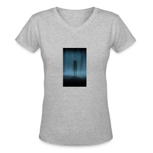 Creepy Forest Person - Women's V-Neck T-Shirt