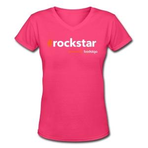 #rockstar - Women's V-Neck T-Shirt
