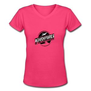 Adventures In Voluntourism - Women's V-Neck T-Shirt
