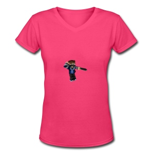 Sweater - Women's V-Neck T-Shirt