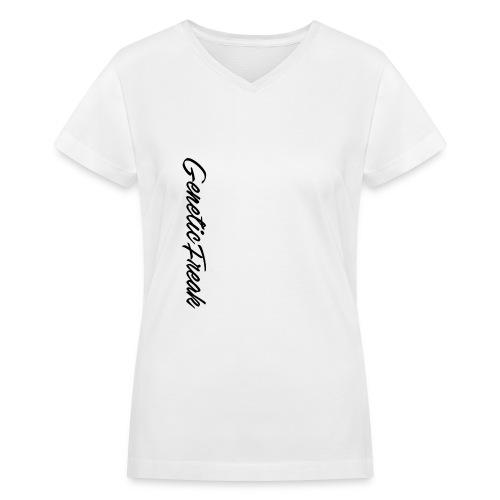 genetic png - Women's V-Neck T-Shirt