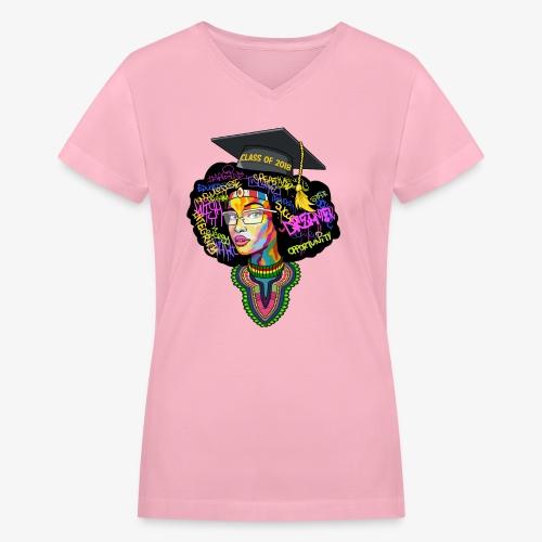 Melanin Queen Shirt - Women's V-Neck T-Shirt