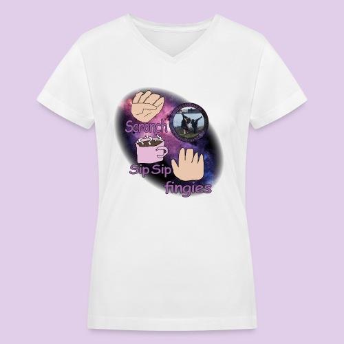 three meme doublesneeze - Women's V-Neck T-Shirt